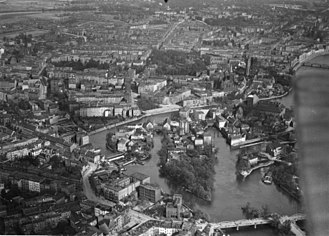 Wrocław - Aerial view of pre-war Breslau, 1920