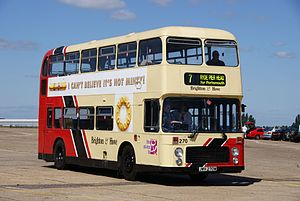 Brighton & Hove bus 270 (JWV 270W), 2010 North Weald bus rally.jpg