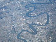 Aerial view of Brisbane and the Brisbane River