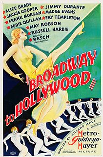 <i>Broadway to Hollywood</i> (film) 1933 film by Willard Mack