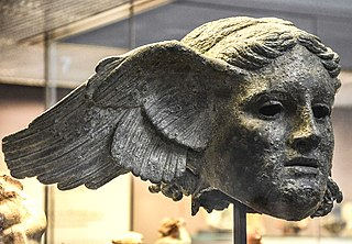 Bronze Head of Hypnos from Civitella d'Arna