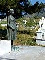 Bronze statue of a lassie over the Galanos family tomb (Vlasti, Kozani, Greece).jpg