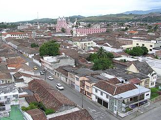 Buga, Valle del Cauca - Image: Buga desde el faro