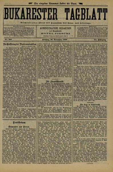 File:Bukarester Tagblatt 1899-11-26, nr. 266.pdf