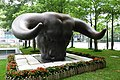 Bull head sculpture outside Shenzhen Stock Exchange (41840952362).jpg