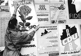 Wahlplakate Cdu 1990
