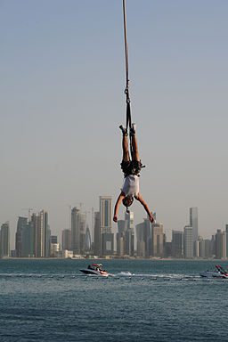 Bungee Jumping at the Pearl Qatar (5739933159)