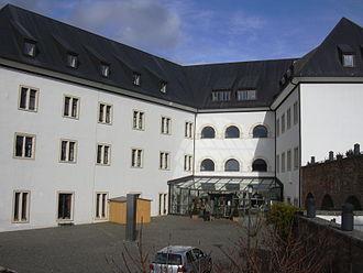 Altleiningen - Castle's inner ward, nowadays a youth hostel
