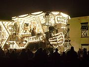 """Front of """"Ghost Ship (Deliver Us)"""" by Gremlins CC, Burnham on Sea Carnival 2006. Winner of six prizes at Bridgwater 2006, including the """"Hardy Spicer Cup"""" for the overall champion float"""