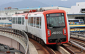 Gimhae International Airport - Busan-Gimhae LRT train.