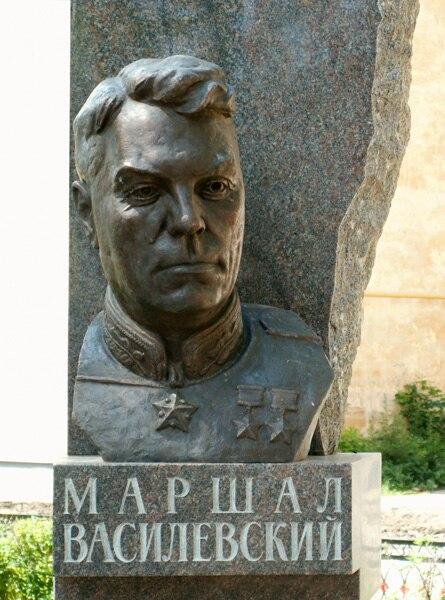 Bust of Vasilevsky in Vichuga