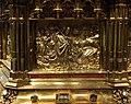 Busto-reliquiario di san servazio, in rame dorato con gemme, 1580 ca., storie 05.jpg