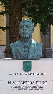Blas Cabrera Felipe Spanish physicist
