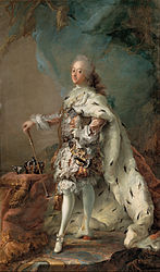 Carl Gustaf Pilo: Portrait of Frederik V in Anointment Robe