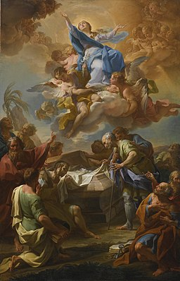 CORRADO GIAQUINTO MOLFETTA 1703 - 1766 NAPLES ASSUMPTION OF THE VIRGIN