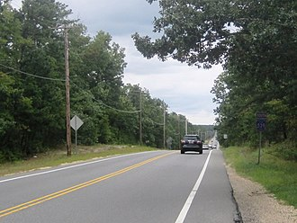 County Route 539 (New Jersey) - CR 539 southbound in Manchester Township within the Pine Barrens