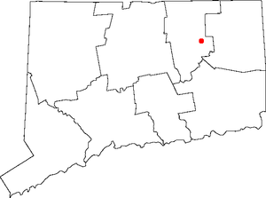 Storrs, Connecticut - Location of Storrs in Connecticut