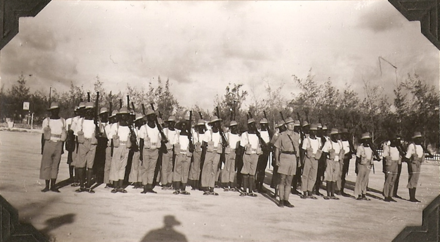 Kenyan troops from the 7th Battalion, King's African Rifles parading in Mogadishu, 1941 C coy 7th bn KAR.png
