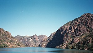 Cahora Bassa - A view of the Cahora Bassa dam