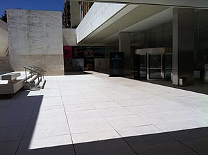 CaixaForum Barcelona - Entrance to the museum designed by Arata Isozaki