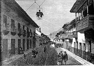 Bogotá - The Royal Street, today known as the Seventh Avenue (Carrera Séptima)