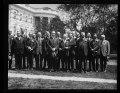 Calvin Coolidge and group outside White House, Washington, D.C. LCCN2016893439.tif