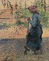 Camille Pissarro - Etude de paysanne en plein air (paysane bêchant) - 1882.jpg