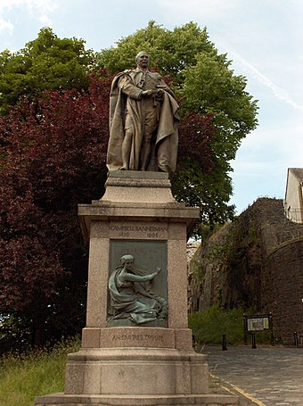 Statue of Campbell-Bannerman in Stirling Campbell Bannerman statue, Stirling - geograph.org.uk - 193716.jpg