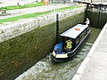 Canal boat on the way up the Kennet and Avon canal (3) - geograph.org.uk - 1443310.jpg