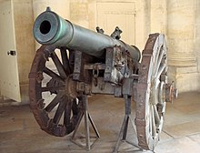 Cannone dell'Era napoleonica, facente parte di un sistema d'artiglieria ideato da Jean-Baptiste Vaquette de Gribeauval.