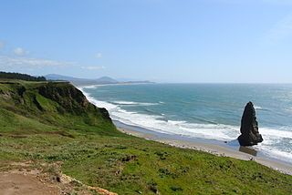 Cape on the coast of Oregon, U.S.