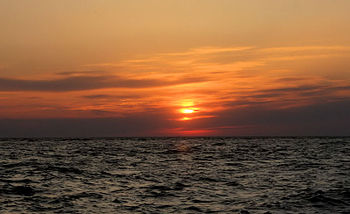 English: Sunset at Sunset Beach in Cape May, NJ