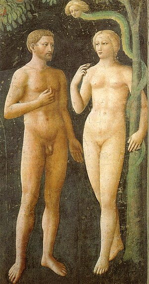 Italian Renaissance painting - Masolino: Adam and Eve