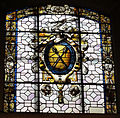 Cappella gondi di smn, vetrata con stemma gondi disegnata da giuliano da sangallo.JPG