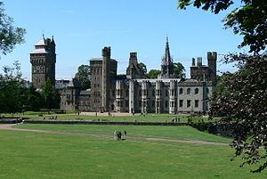 Cardiff Castle - Palast außen