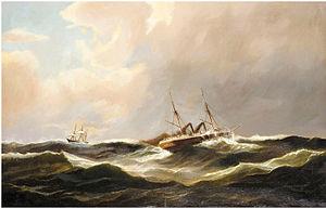 Carl Bille - En dampskibet på åbent hav.jpg