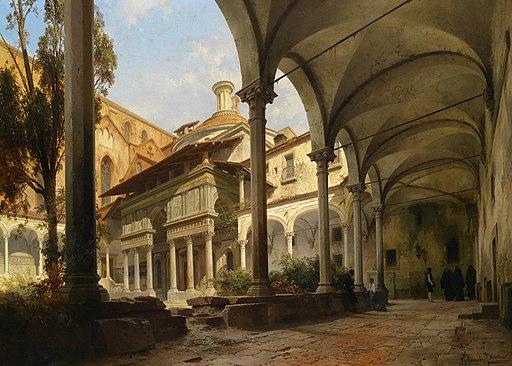 Carl Georg Anton Graeb La Cappella dei Pazzi, il Chiostro di Santa Croce, Firenze