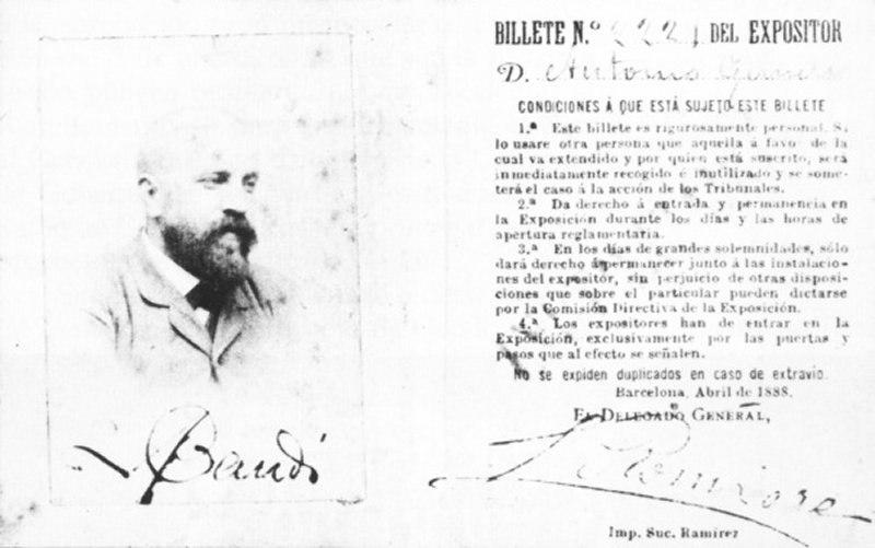 Carnet Gaudí (1888)