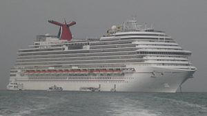 Dream-class cruise ship - Image: Carnival Dream In fog (recropped)