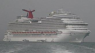 Dream-class cruise ship - Image: Carnival Dream In fog (recropped)