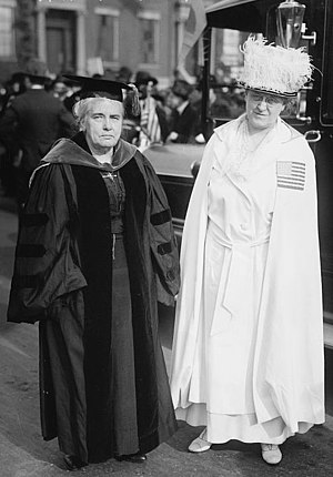 Carrie Chapman Catt - Carrie Chapman Catt and Anna Howard Shaw in 1917