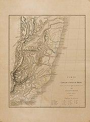 Carte de la Côte de l´Ouest du Brésil entre le 15me et le 23me degrès de latitude du sud d´après Arrowsmith avec quelques rectifications