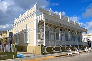 National Register of Historic Places listings in southern Puerto Rico - Image: Casa Cautino 2 Guayama Puerto Rico