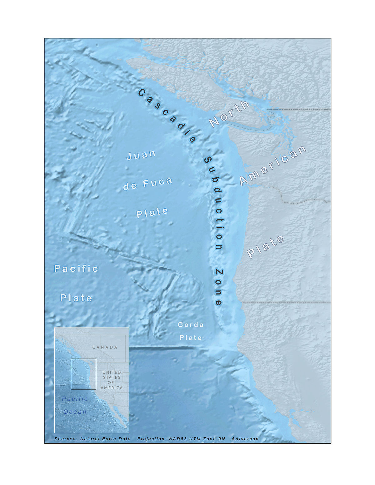 Cascadia Subduction Zone Wikipedia - Map of us fault lines