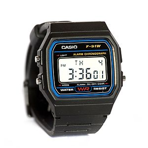English: Casio F91W