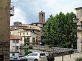 Castelnuovo garfagnana, veduta con campanile del duomo.JPG