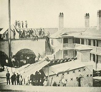 Castle Pinckney - Federal prisoners captured at the First Battle of Bull Run were transported to Charleston S.C. and held inside a makeshift prison at Castle Pinckney. (photo August 1861)