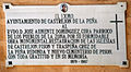 Castrejón de la Peña Church of Saint Agatha Plaque 001.jpg