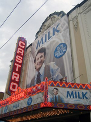 Castro Theatre - Castro Theatre running Milk November 2008