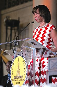 Catherine Pugh at her inauguration as mayor December 2016